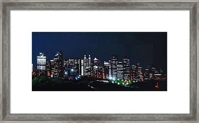 Calgary Canada No Moon Framed Print