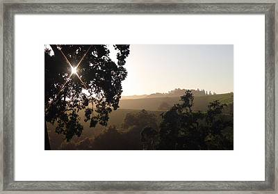 Cali Sun Set Framed Print by Shawn Marlow