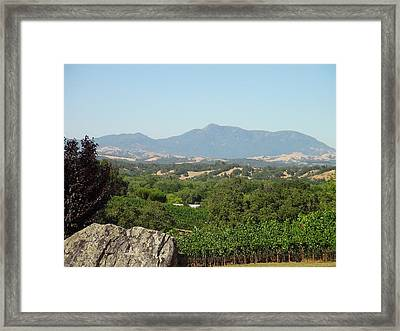 Cali View Framed Print by Shawn Marlow