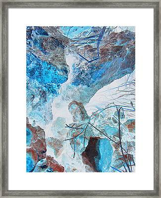 Framed Print featuring the photograph Caliche And Desert Grasses by Louis Nugent