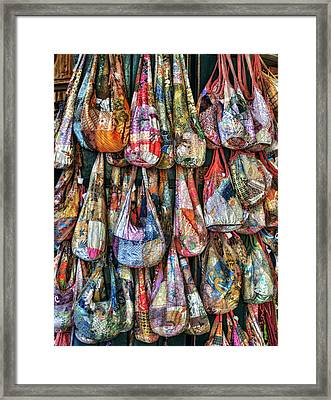 Calico Bags Framed Print