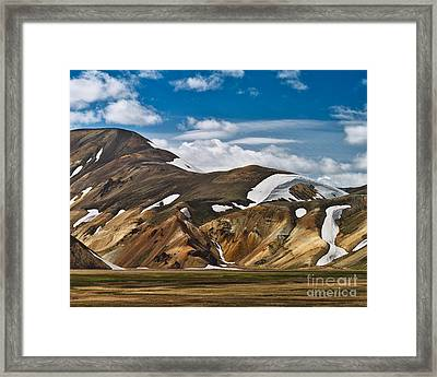 Calico Hills Framed Print by Royce Howland
