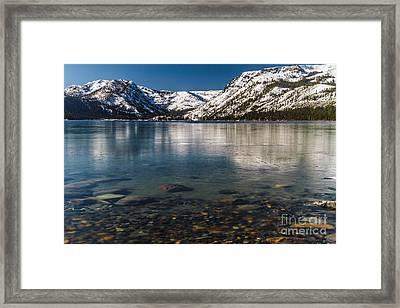 Calico Ice Framed Print by Mitch Shindelbower