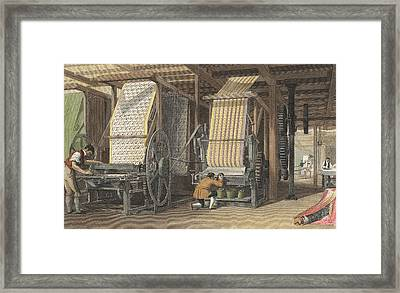 Calico Printing Machines Framed Print by Universal History Archive/uig