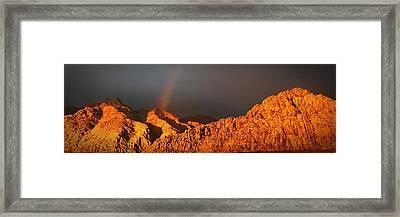 Calico Rainbow Framed Print