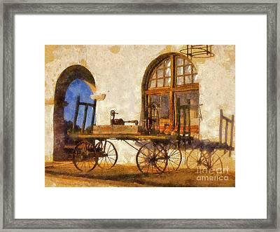 Caliente Hacienda Framed Print
