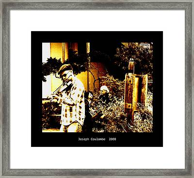 California Street Music Framed Print by Joseph Coulombe