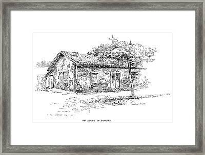 California Adobe House Framed Print by Granger