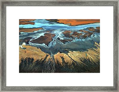 California Aerial - The Desert From Above Framed Print