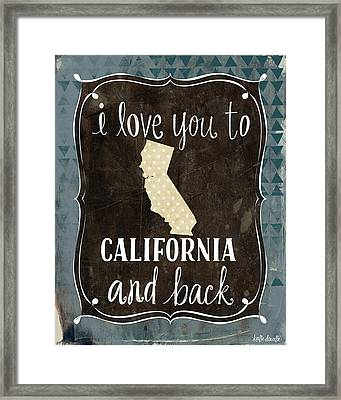 California And Back Framed Print