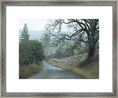 California Back Country Road Framed Print
