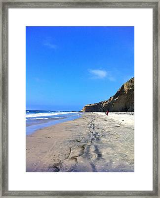 California Beach Hike Framed Print