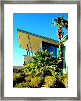 California Beach House Framed Print by Randall Weidner