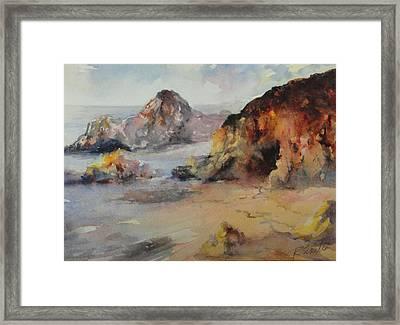 California Beach Framed Print by Rose Sinatra