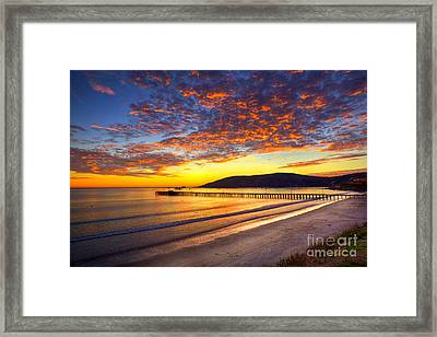 Avila Beach Sunset Framed Print