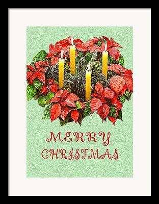 Candle Lit Digital Art Framed Prints