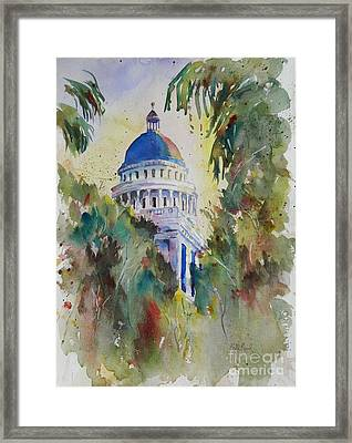California Capitol Building Framed Print