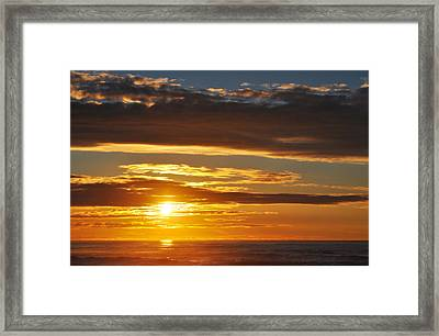 Framed Print featuring the photograph California Central Coast Sunset by Kyle Hanson