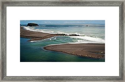 California Coast  Beach Seascape Panoramic Framed Print by Julie Magers Soulen