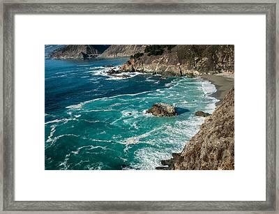 California Coast - Big Creek Bridge Framed Print by George Buxbaum