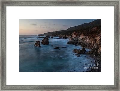 California Coast Dusk Framed Print