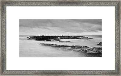 California Coast Long Exposure In The Morning Framed Print by Andrew Raby