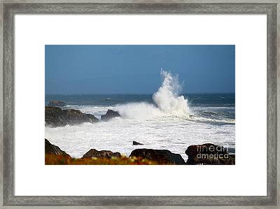 Framed Print featuring the photograph California Coast4 by Theresa Ramos-DuVon