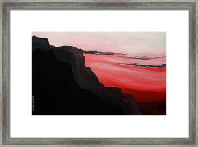 California Coastal Dusk Framed Print