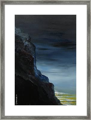 California Coastal Evening Framed Print