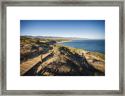 California Coastline From Point Dume Framed Print by Adam Romanowicz