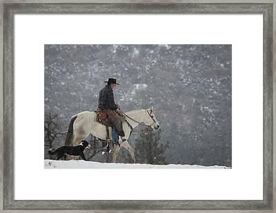California Cold Framed Print