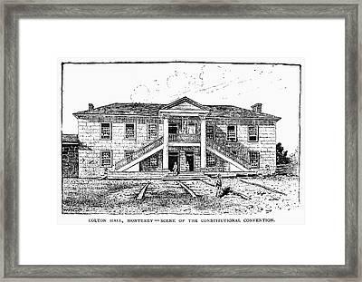 California Constitution Framed Print