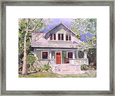California Craftsman Cottage Framed Print by Patricia Pushaw