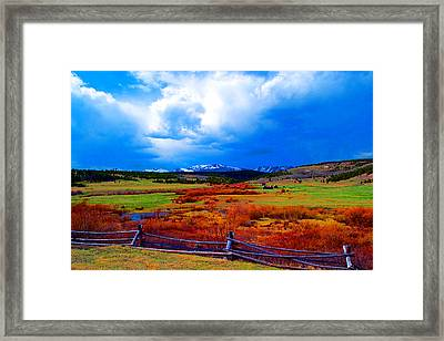 Framed Print featuring the photograph California Creek Homestead by Kevin Bone