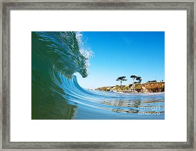 Framed Print featuring the photograph California Curl by Paul Topp