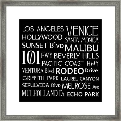 California Destinations Framed Print by Jaime Friedman