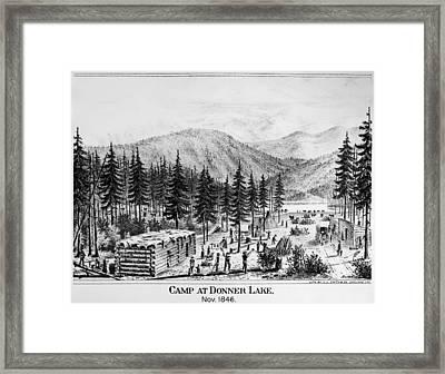 California Donner Lake Framed Print