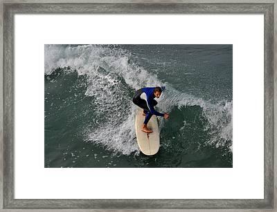 California Dreamin Surfer Framed Print by Diane Lent