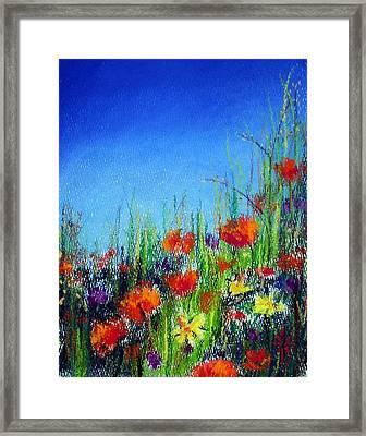 Framed Print featuring the pastel California Dreaming by Jodie Marie Anne Richardson Traugott          aka jm-ART