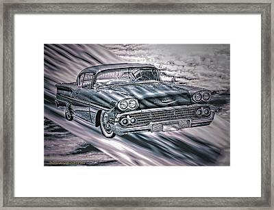 Chevy In The Sky Framed Print by LeeAnn McLaneGoetz McLaneGoetzStudioLLCcom