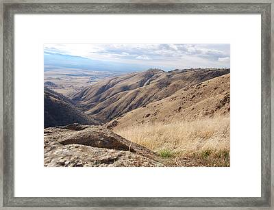 California Drought Framed Print