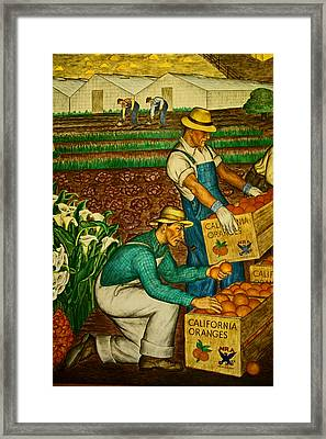 California Farmers Framed Print