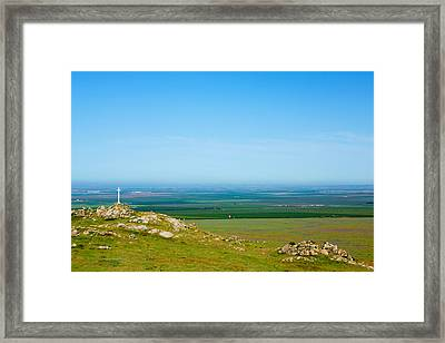 California Farmland Framed Print by Ram Vasudev