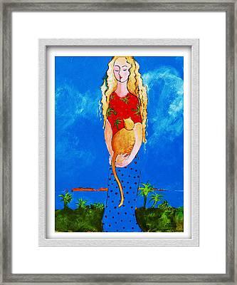 California Fat Cat Framed Print by Eve Riser Roberts