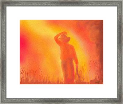 California Fires Framed Print by Angela A Stanton