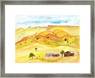 California Foothill Homestead Framed Print