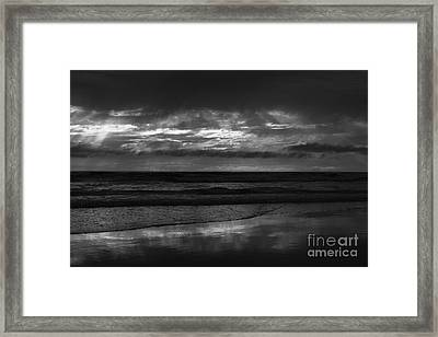 Framed Print featuring the photograph  Cardiff Godrays by John F Tsumas
