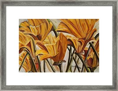 California Gold Framed Print