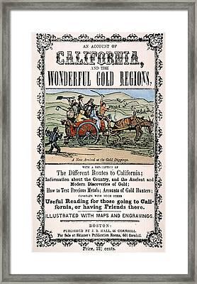 California Gold Rush Guide Framed Print by Granger