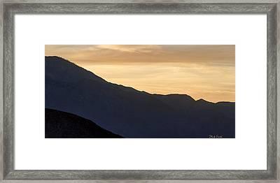 California Golden Desert Sunset Framed Print by Heidi Smith